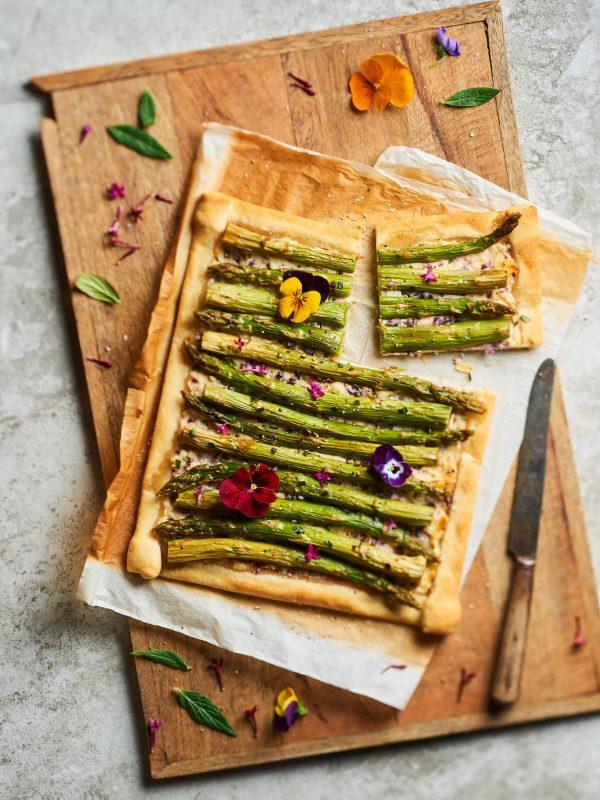 Tarte aux asperges vertes - Photo : N. Coipeau