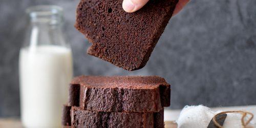 Pixellie : cake au chocolat et aux amandes